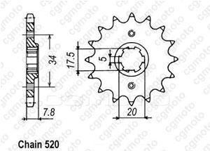 Pignon Xr 250 R 91-95
