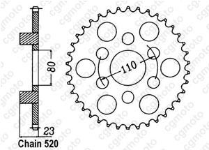 Kit chaine Aprilia 125 Af1 Replica