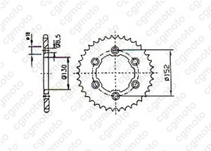 Kit chaine Aprilia 450/550 Sxv
