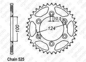 Kit chaine Ducati Monster 1000 Ie