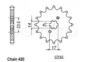 Kit chaine Derbi GPR 50