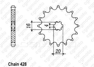 Kit chaine Suzuki Rm 85 Grandes Roues