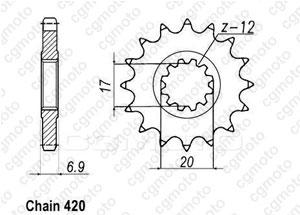 Kit chaine Yamaha Tzr 50