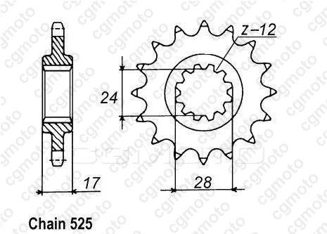 kit cha ne moto pour honda cb 600 f hornet pc36 2005. Black Bedroom Furniture Sets. Home Design Ideas